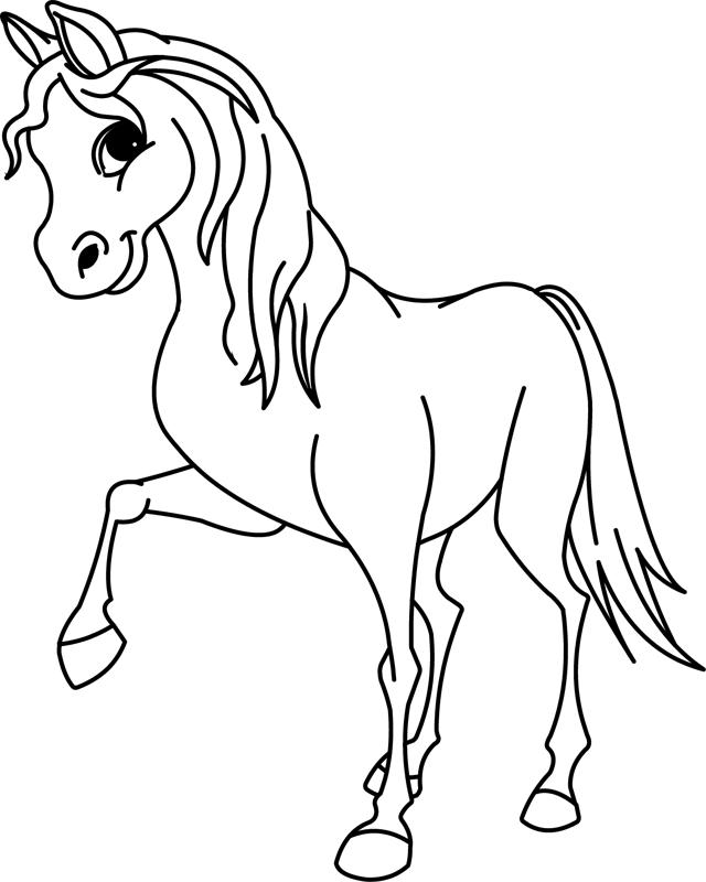 Coloriage À Imprimer, Un Cheval - Turbulus, Jeux Pour Enfants encequiconcerne Coloriage Magique De Cheval
