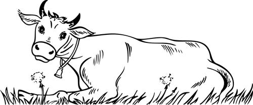 Coloriage À Imprimer,Une Vache Allongée - Turbulus, Jeux intérieur Dessin D Une Vache