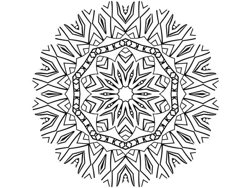Coloriage À Télécharger Mandala Rosace - Loisirs - Notre Temps concernant Coloriage Mandale