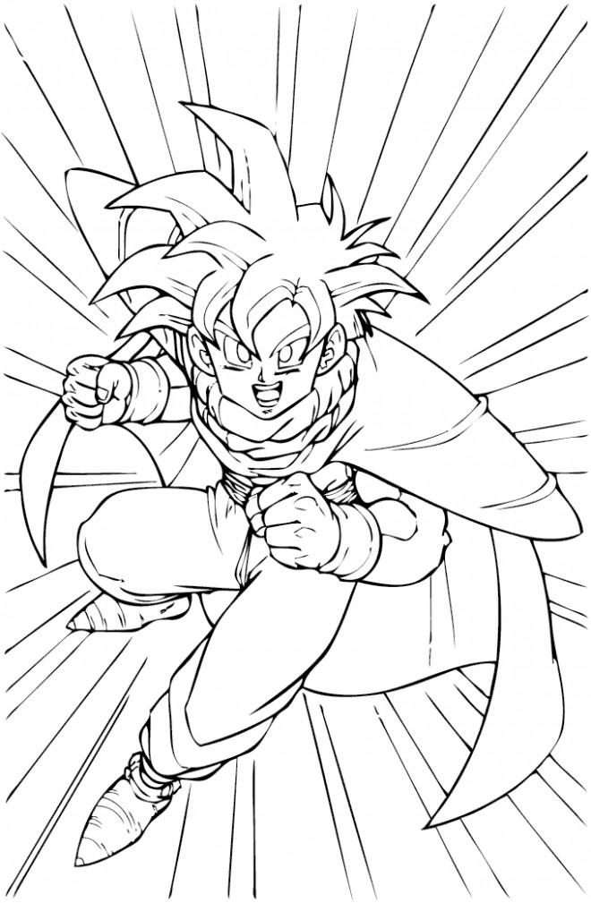 Coloriage Ado Dragon Ball Z Dessin Gratuit À Imprimer destiné Dessin A Imprimer Pour Garçon