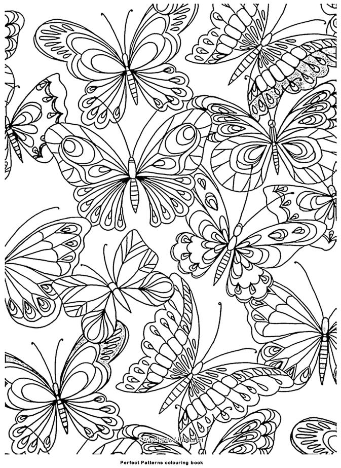 Coloriage Adulte Art Therapie Papillons À Colorier concernant Art Thérapie Coloriage