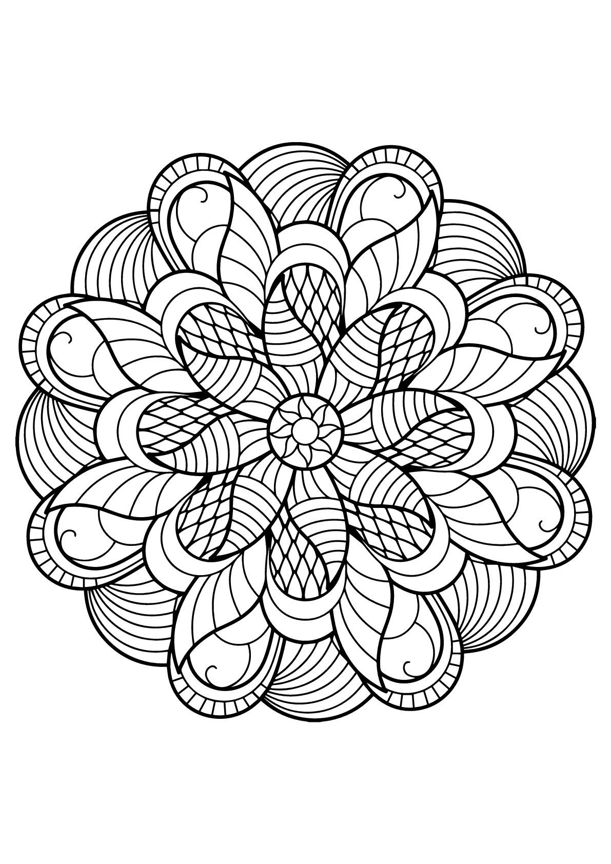 Coloriage Adulte Gratuit Impressionnant Photographie serapportantà Coloriage Mandala Adulte