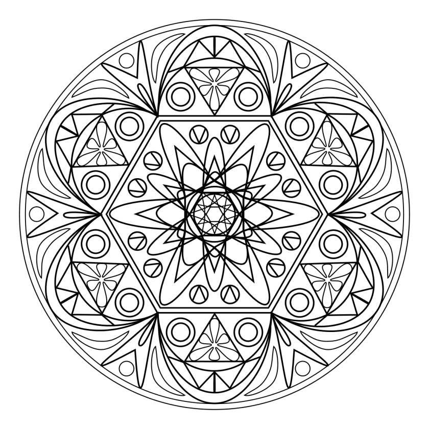 Coloriage Adulte - Mandala avec Mandala Coloriage