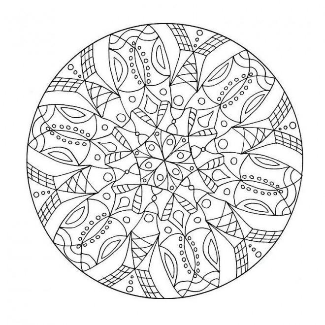 Coloriage Adulte Mandala Fleur Difficile Dessin Gratuit À concernant Mandala Cm2