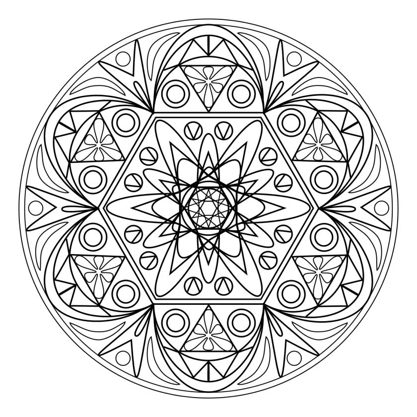 Coloriage Adulte - Mandala tout Coloriage Adulte Mandala