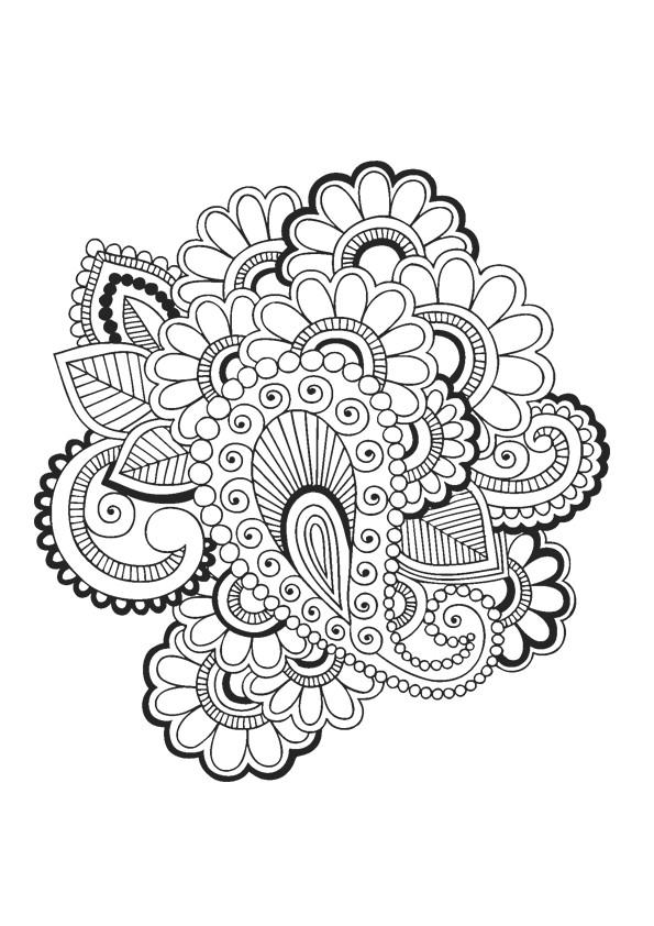 Coloriage Adulte Rosace - Jobstips destiné Dessin Rosace Fleur