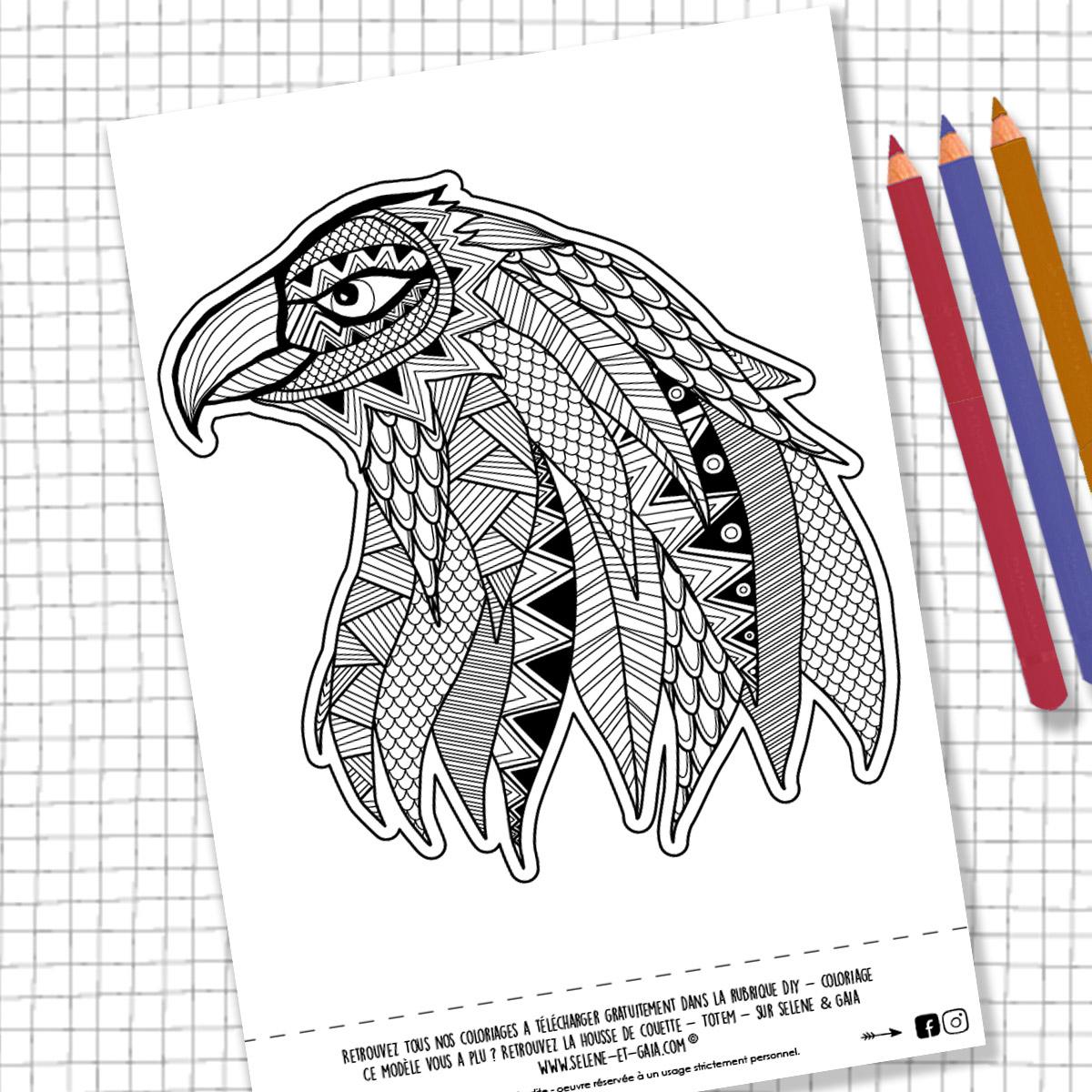 Coloriage Aigle Mandala - Ohbq tout Coloriage Aigle A Imprimer Gratuit