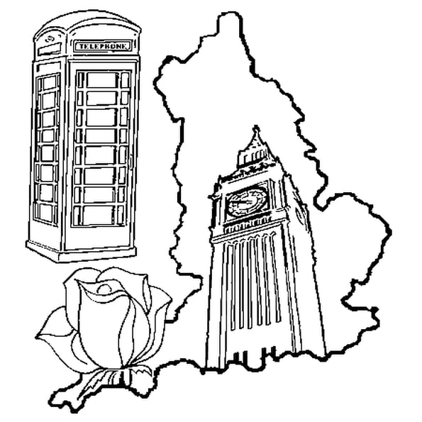 Coloriage Angleterre En Ligne Gratuit À Imprimer avec Coloriage Londres À Imprimer
