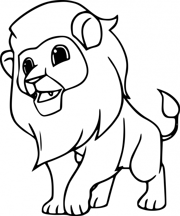 Coloriage Animal Sauvage Lion À Imprimer Sur Coloriages serapportantà Lion Dessin Enfant