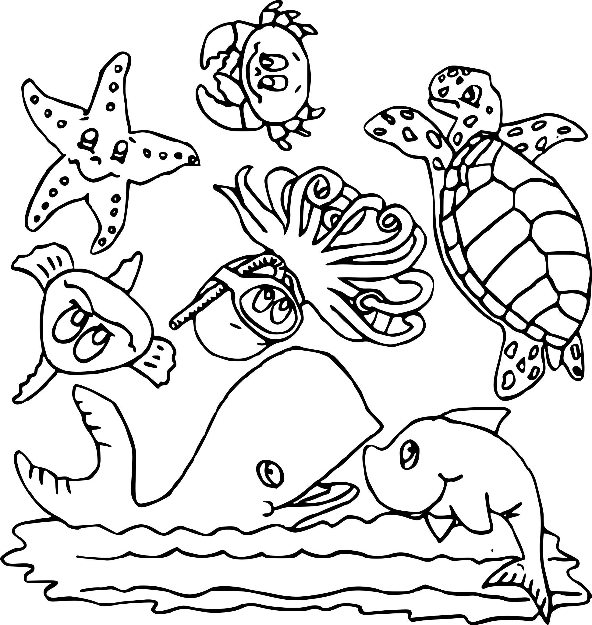 Coloriage Animaux Marins À Imprimer Sur Coloriages tout Coloriage Animaux