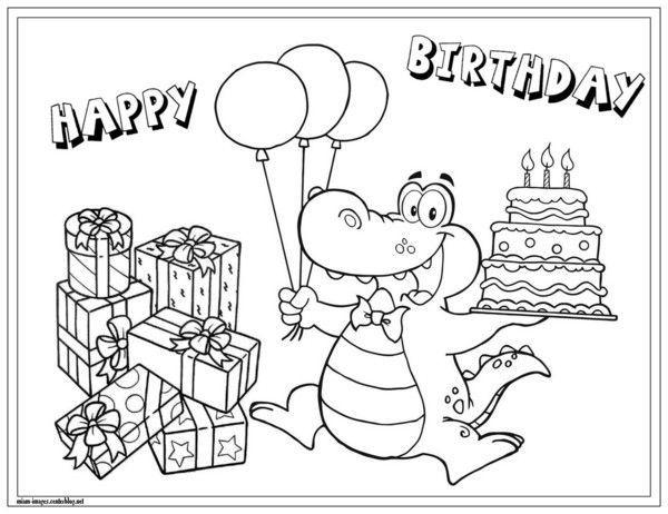 Coloriage Anniversaire . Happy Birthday Coloring Page tout Dessin D Anniversaire À Imprimer