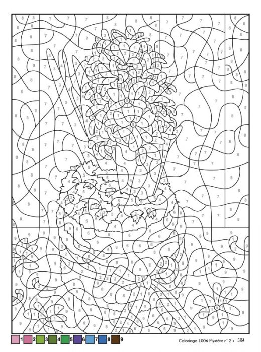 Coloriage Anti Stress Automne destiné Coloriage Mystere Adulte
