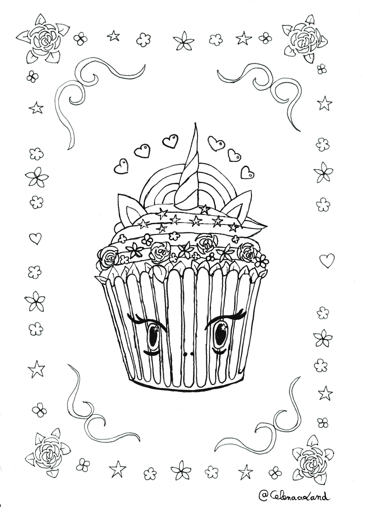 Coloriage Anti Stress Cupcake à Coloriage De Cupcake