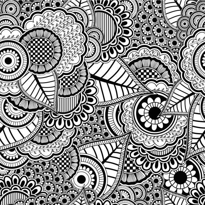 Coloriage Anti-Stress Difficile Dessin Gratuit À Imprimer tout Coloriages Zen