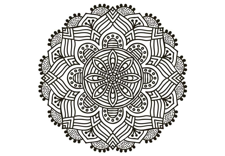 Coloriage Anti-Stress Et Mandala Gratuits Pour Adulte encequiconcerne Coloriage Mandala Anti Stress