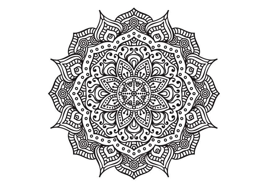 Coloriage Anti-Stress Et Mandala Gratuits Pour Adulte intérieur Coloriage Mandala Adulte A Imprimer