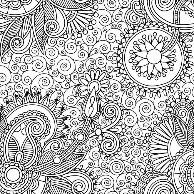 Coloriage Anti-Stress Nature Difficile Dessin Gratuit À encequiconcerne Coloriage Destressant