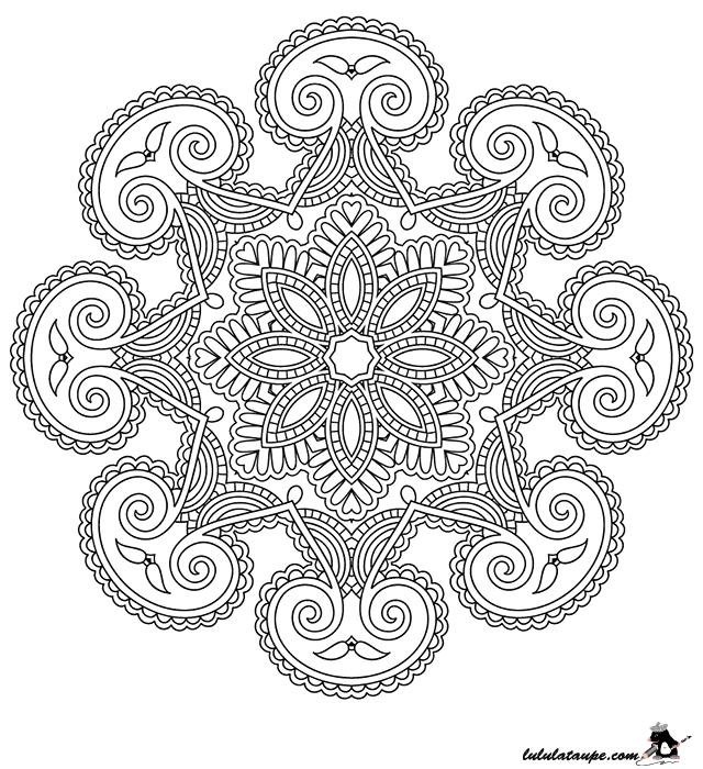 Coloriage Antistress - Lulu La Taupe, Jeux Gratuits Pour avec Coloriage Mandala Anti Stress