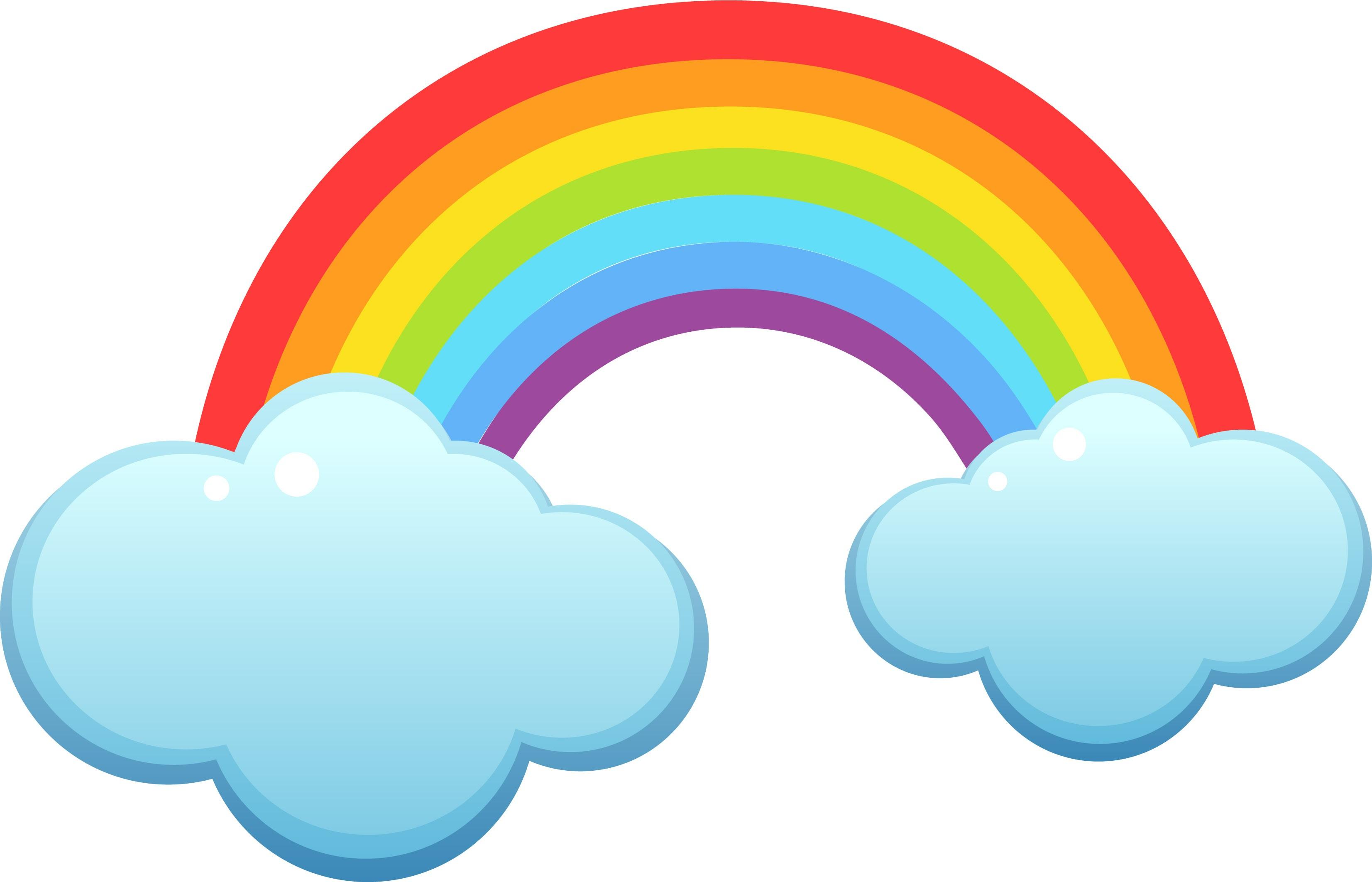 Coloriage Arc-En-Ciel À Imprimer encequiconcerne Arc En Ciel A Colorier
