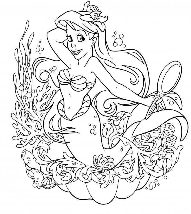 Coloriage Ariel La Petite Sirène Dessin Gratuit À Imprimer intérieur Dessin A Imprimer Arielle La Petite Sirene