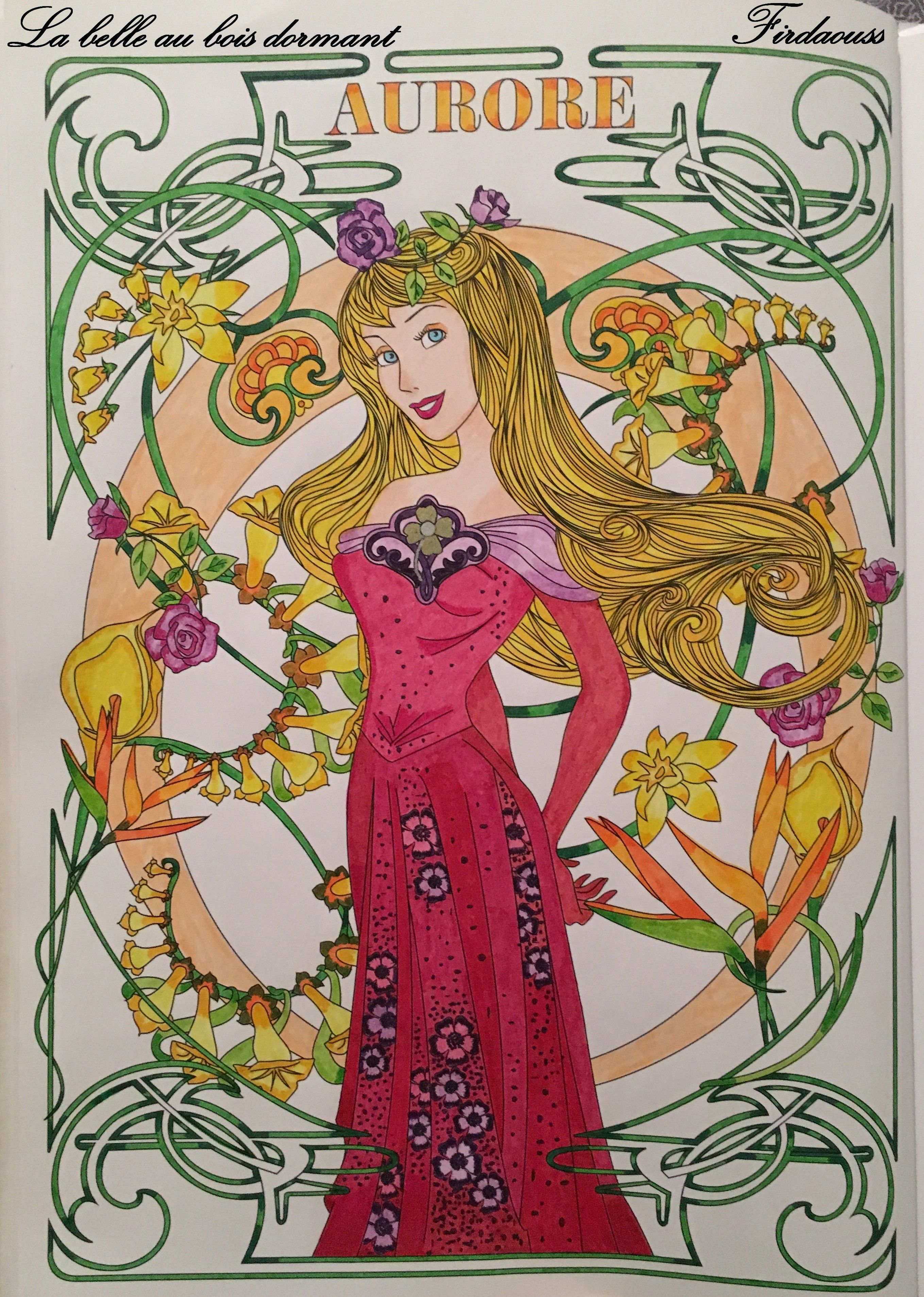Coloriage Artdeco Les Classiques Disney - La Belle Au Bois tout Coloriage La Belle Au Bois Dormant