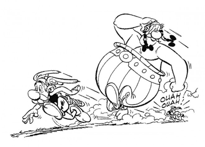 Coloriage Astérix Obélix Et Idéfix En Courant concernant Coloriage Asterix Et Obelix A Imprimer Gratuit