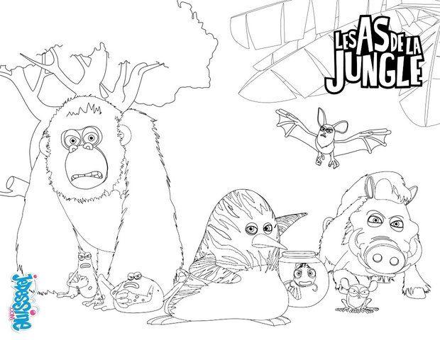 Coloriage (Avec Images) | Coloriage, Coloriage Dessin tout Coloriage Animaux De La Jungle Gratuit