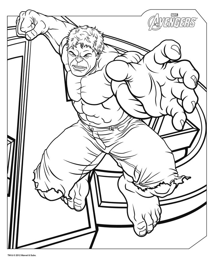 Coloriage Avengers À Imprimer Gratuitement | Coloriage tout Coloriage Hulk A Imprimer Gratuit