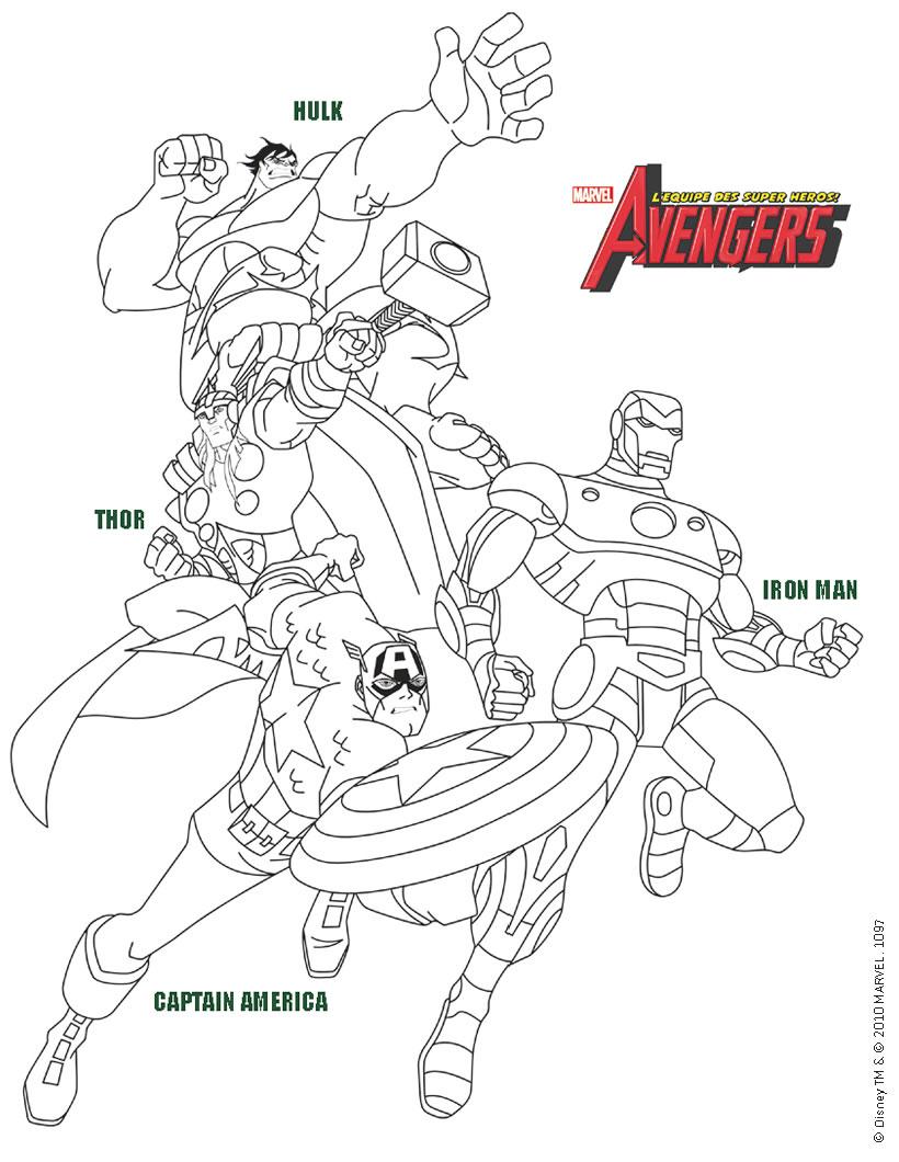 Coloriage Avengers Gratuit | My Blog serapportantà Coloriage Avangers