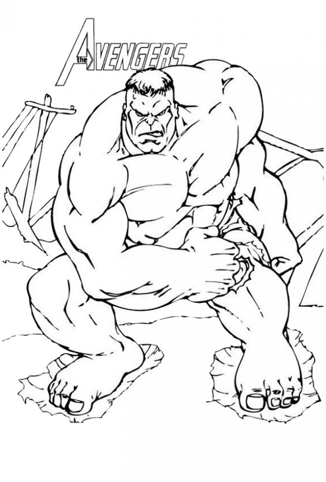 Coloriage Avengers Hulk Couleur Dessin Gratuit À Imprimer concernant Dessin Des Avengers
