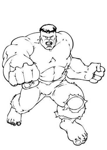 Coloriage Avengers Le Puissant Hulk Dessin Gratuit À Imprimer pour Coloriage Hulk A Imprimer Gratuit