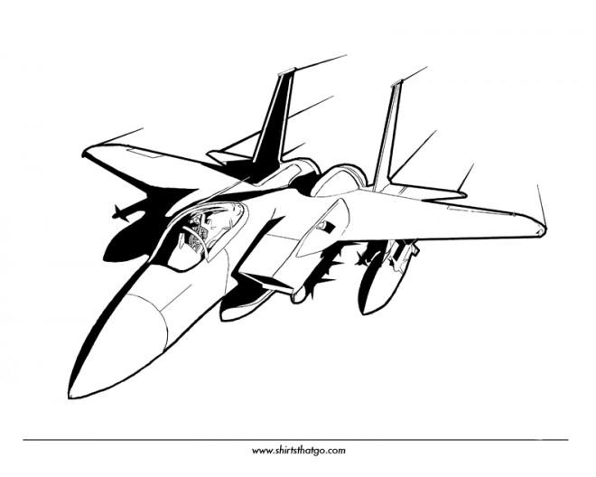 Coloriage Avion De Chasse Vectoriel Dessin Gratuit À Imprimer pour Coloriage De Chasse A Imprimer Gratuit