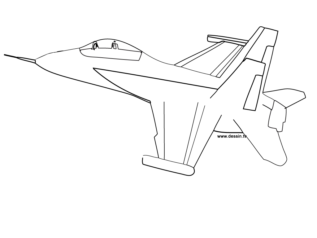 Coloriage Avion F18 avec Coloriage Avion