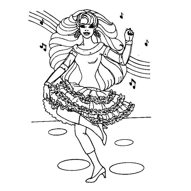 Coloriage Barbie Danseuse Étoile À Colorier Dessin concernant Coloriage Danseuse Étoile