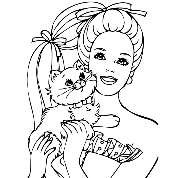 Coloriage Barbie Fashion dedans Dessin De Barbie A Imprimer