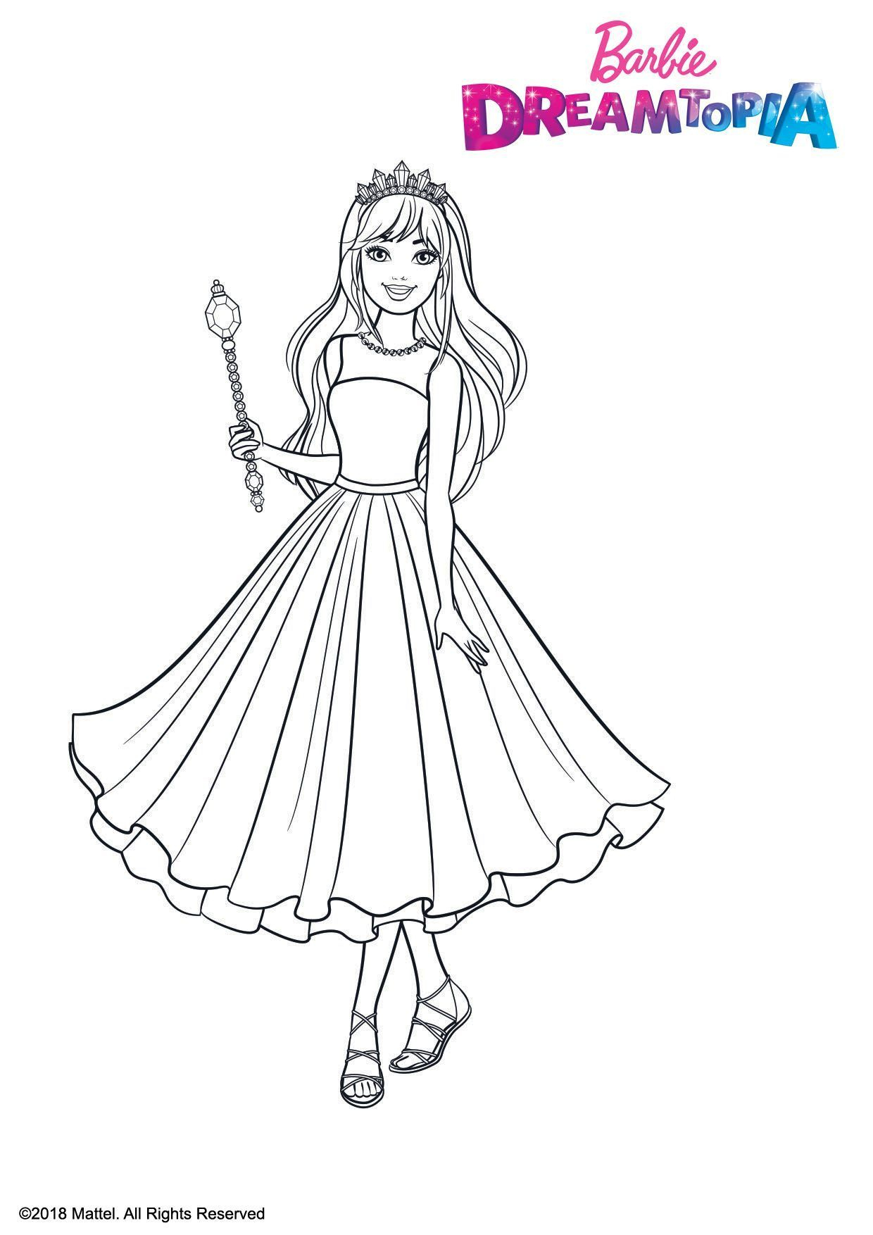 Coloriage Barbie Princesse Pailletes - Coloriage Barbie encequiconcerne Dessin De Barbie A Imprimer