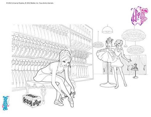 Coloriage Barbie Reve De Danseuse Etoile Barbie Danseuse avec Coloriage Danseuse Étoile