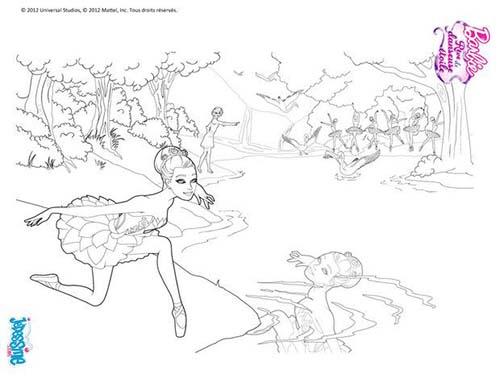 Coloriage Barbie Reve De Danseuse Etoile Pointes De Barbie avec Coloriage Danseuse Étoile