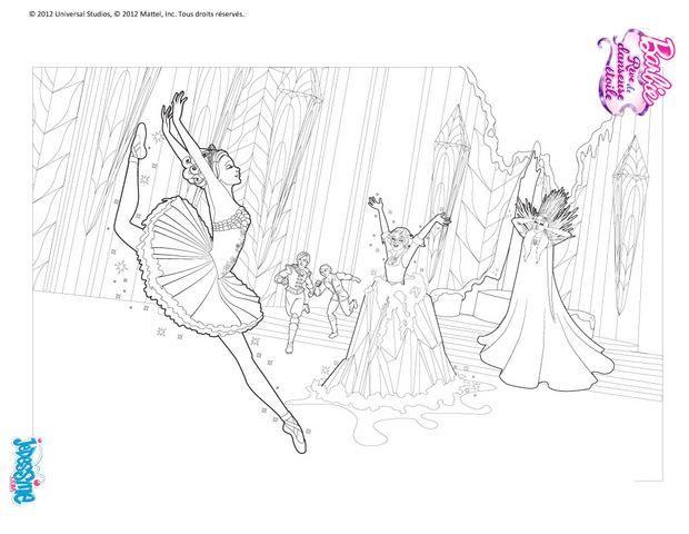 Coloriage Barbie Reve De Danseuse Etoile | Supercoloriage dedans Coloriage Danseuse Étoile
