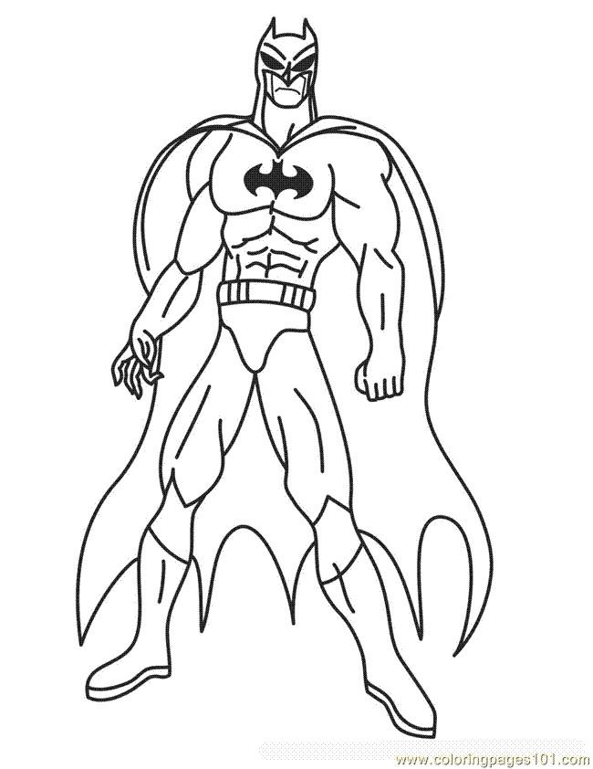 Coloriage Batman À Colorier Dessin Gratuit À Imprimer pour Coloriage Batman A Imprimer