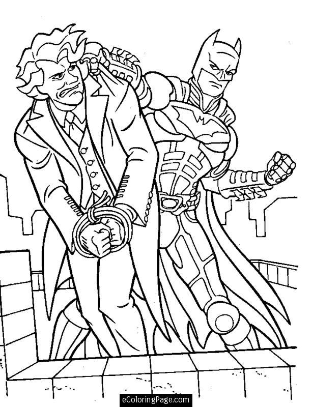Coloriage Batman Contre Le Joker à Coloriage Batman A Imprimer