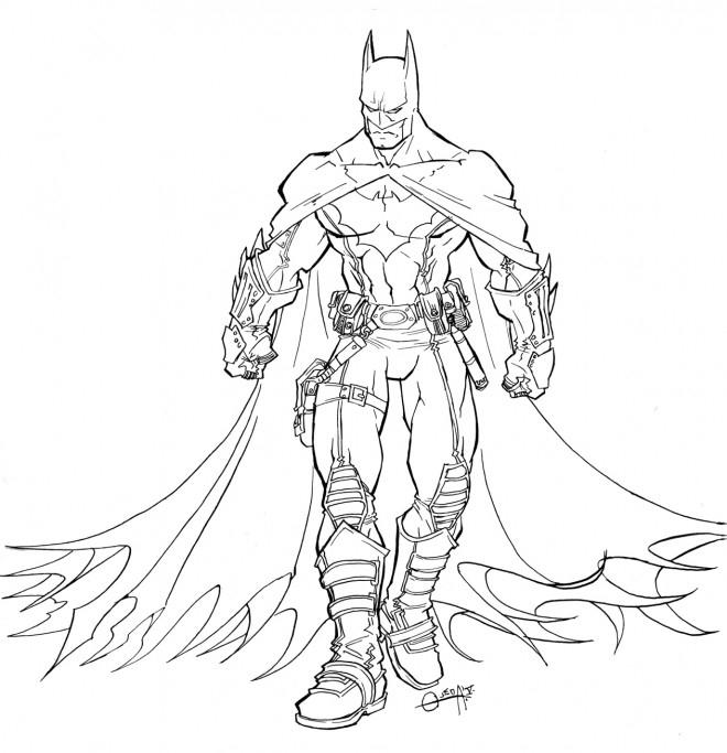 Coloriage Batman Superhéro Dessin Gratuit À Imprimer encequiconcerne Coloriage À Imprimer Batman