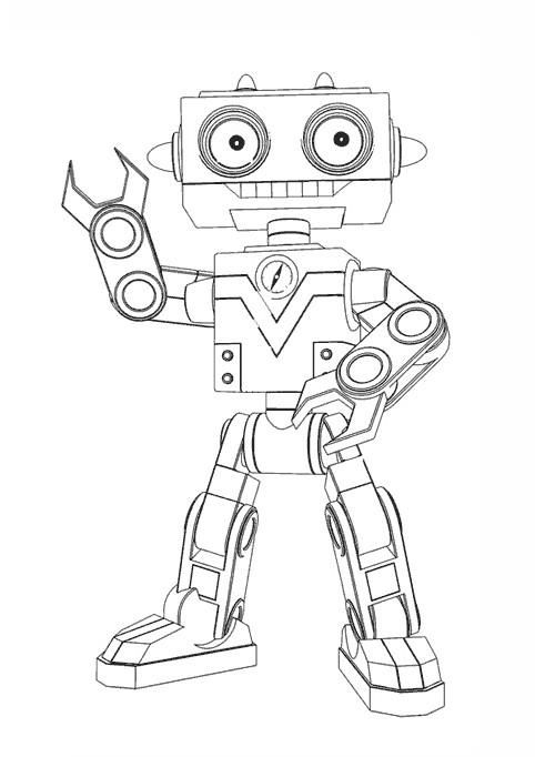 Coloriage Bébé Lilly Robot Dessin Gratuit À Imprimer tout Dessin Robot À Imprimer