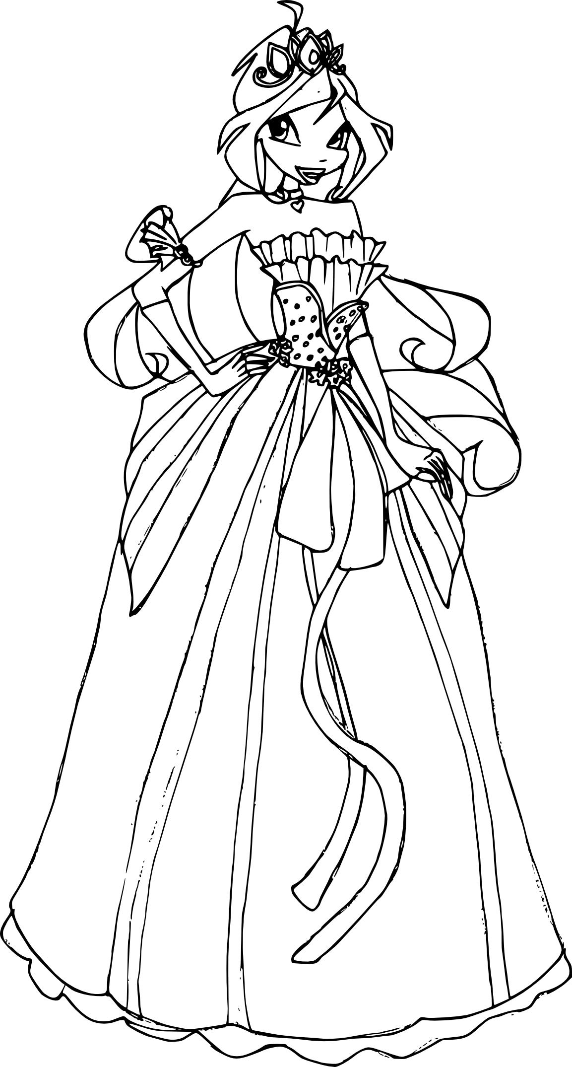 Coloriage Bloom Princesse Winx À Imprimer tout Coloriage De Princesse À Imprimer Gratuit