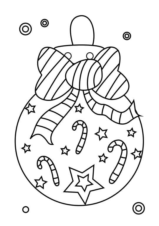 Coloriage Boule De Noël Nœud Papillon | Coloriage Boule De tout Dessin De Noel A Imprimer Gratuit