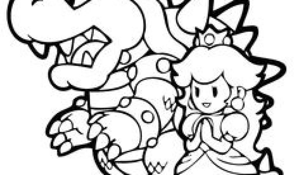 Coloriage Bowser Mario Free Printable Mario Coloring Pages à Coloriage Bowser