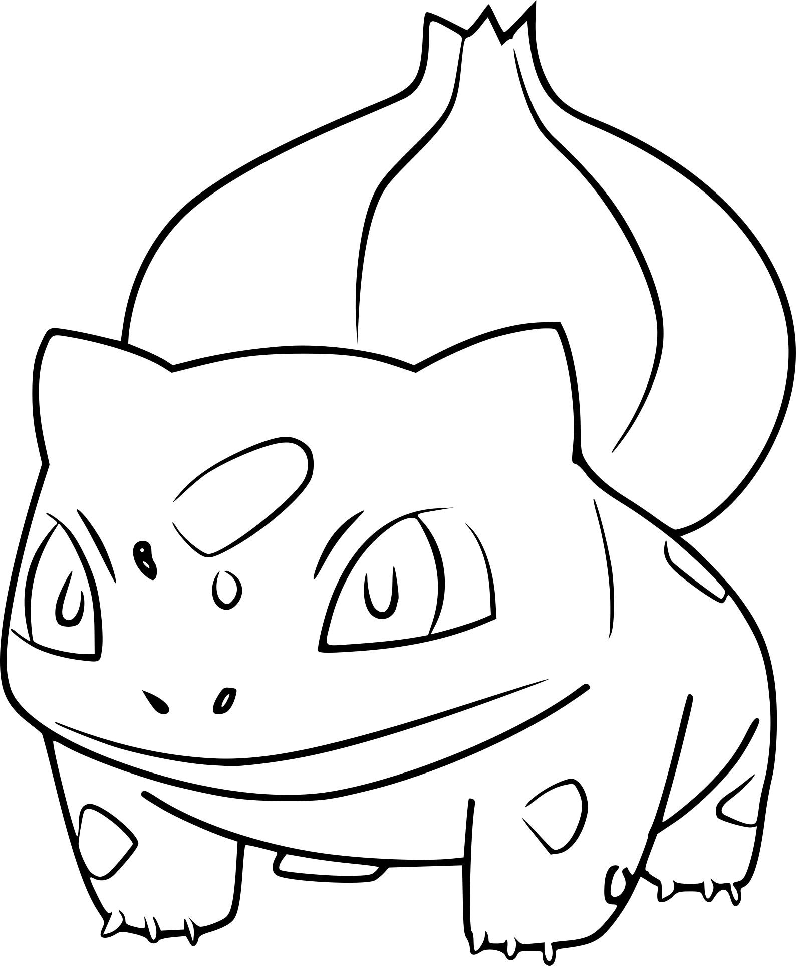 Coloriage Bulbizarre Pokemon Go À Imprimer Sur Coloriages avec Coloriage Pokemon Salameche Imprimer