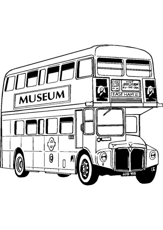 Coloriage Bus Anglais | Bus Anglais, Dessin Bus destiné Dessin Cabine Téléphonique Anglaise