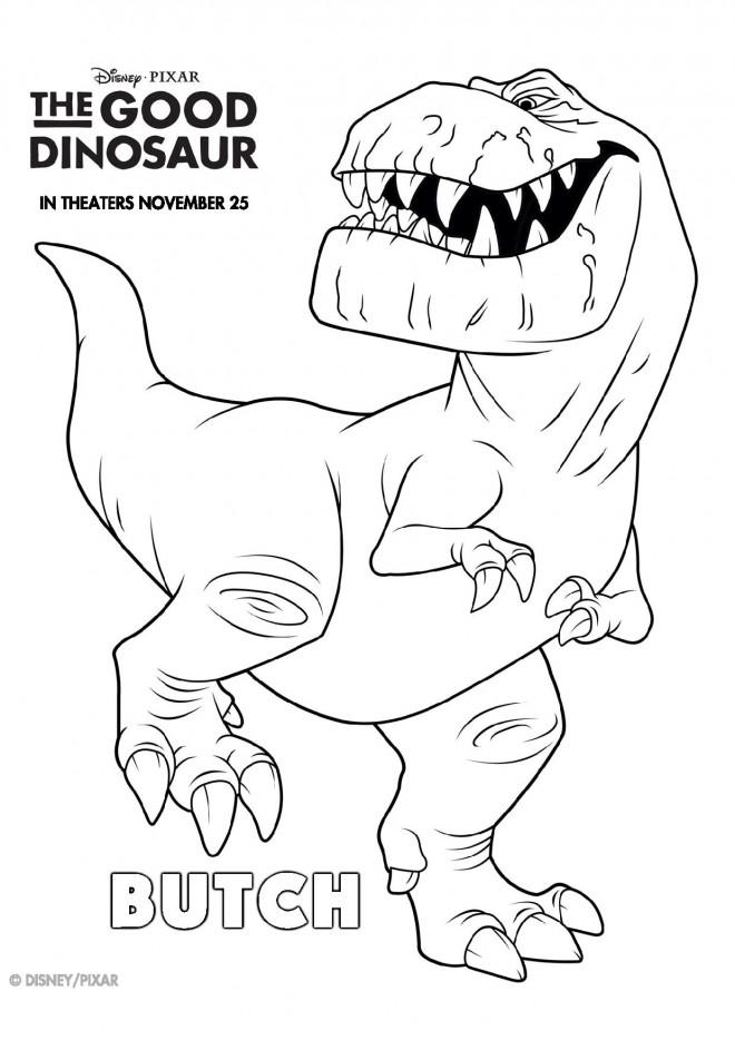 Coloriage Butch Dans Le Bon Dinosaure Dessin Gratuit À intérieur Coloriage Dinosaure À Imprimer Gratuit
