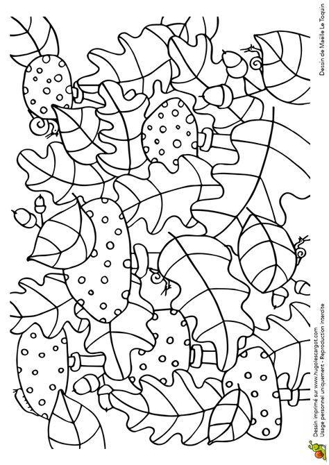 Coloriage Cache Cache Feuilles Amanites Tue Mouches Sur avec Hugolescargot Coloriage
